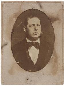 Portret van een man, mogelijk Louis Lanen (1837-1891)
