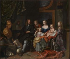 Everhard Jabach (1618–1695) met zijn gezin