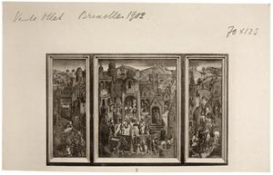 Triptiek met een panorama met de Passie van Christus