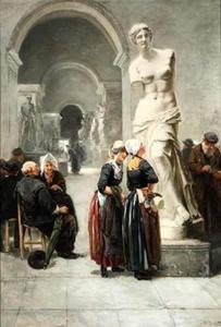Bezoek aan het Louvre, Parijs