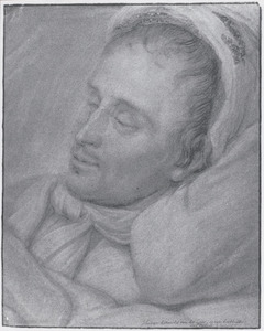 Portret van Johannes Antonides van der Goes (1647-1684) op zijn doodsbed