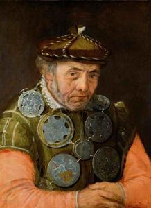 Portret van een oude man, functionaris bij een gilde