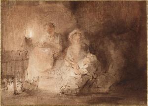 H. Familie in een interieur
