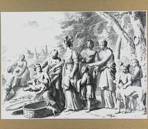 Farao's dochter vindt Mozes in het biezen mandje (Exodus 2:1-10)
