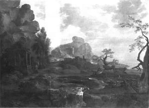 Landschap met tempelruïnes