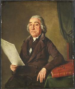 Portret van Jacob de Vos Sr. (1736-1833), kunstverzamelaar te Amsterdam