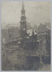 De Munt te Amsterdam bij winter