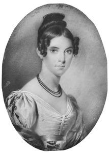 Portret van Annette Cecile Perette Amman (1800-1874)