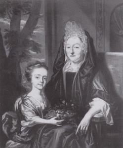Dubbelportret van een vrouw en een meisje