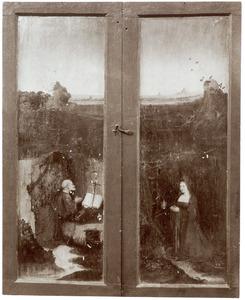 De H. Petrus (links), de H. Maria Magdalena (rechts)