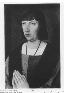 Portret van een ridder in gebed