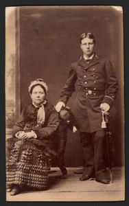 Portret van Theodorus E.W. van Dompseler (1862-1926) en Jkvr. Theodora M.F. de Pauly (?-?)