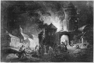 Brandende stad