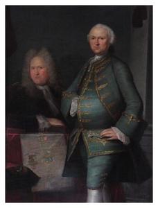 Portret van Johan Cornelis Lampsins (1716-1767) en zijn vader Apollonius Lampsins (1674-1728)
