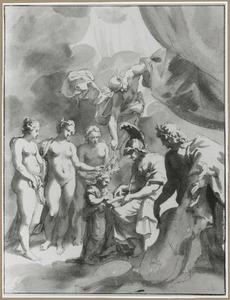 De opvoeding van Maria de' Medici door Minerva, Apollo, Mercurius en de drie Gratieën