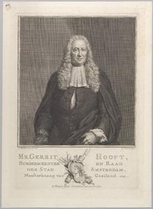 Portret van Gerrit Hooft (1684-1767)