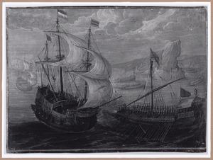 Zeeslag tussen Nederlandse en Spaanse schepen