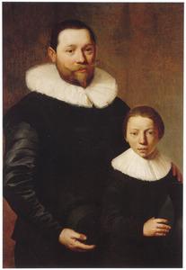 Portret van een onbekende man met jongen