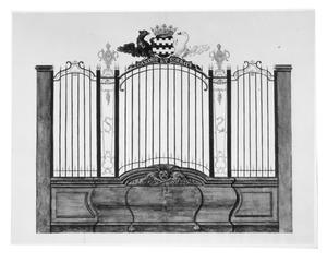Het in 1751 geplaatste hek van de grafkapel van de familie Van Slingelandt (nu Sint Annakapel)  in de Grote Kerk van Dordrecht