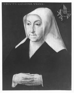 Portret van Catharina Vrancx, echtgenote van Adriaen van den Broucke, genaamd Musch