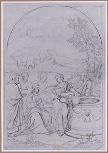 Christus en de Samaritaanse vrouw bij de waterput (Johannes 4:1-29)