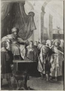 De samenzweerders beschuldigen Daniël voor koning Darius: Daniël bidt voor het open raam (Daniël 6)