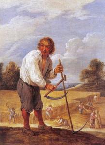 Boer in het veld