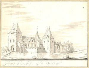 Het huis Groot Eerentel bij Nijkerk