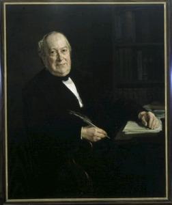 Portret van J.G. (Jacob Gysbert) de Hoop Scheffer (1819-1893)
