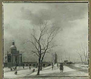 De Muiderpoort in Amsterdam in de winter