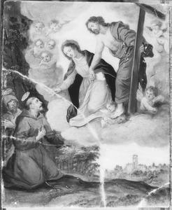 De verschijning van Christus en Maria aan de H. Franciscus van Assisi