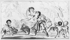Venus probeert Adonis af te houden van de jacht (Metamorfosen X)