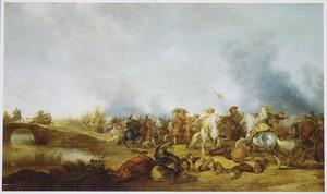Ruitergevecht bij een brug