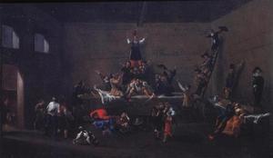 Inauguratie van een lid van de Schildersbent in Rome