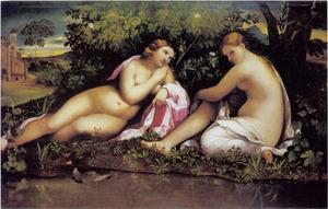Twee rustende nimfen (Jupiter als Diana, en Kallisto?)