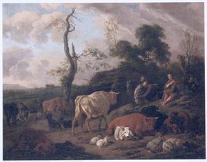 Landschap met Erminia bij de herders