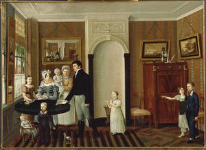 Portret van de familie van Albertus Horstman (1789-1840) en Anna Wilhelmina Webkink (1788-1869)