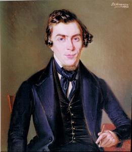 Zelfportret van Pieter Alardus Haaxman (1814-1887)