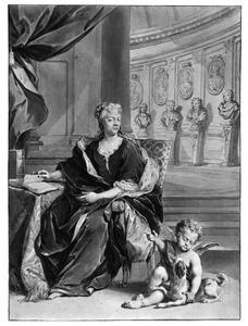 Portret van Anna Maria Luisa de' Medici keurvorstin Von der Pfalz