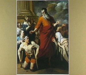Paulus geneest de kreupele man te Lystra (Handelingen 14:9-10)