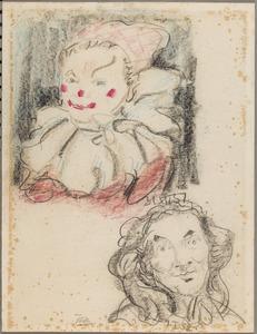 Clownsportret en portret van een vrouw