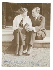Portret van Jan Marie Gülcher (1885-1973) en Aleida Margareta Berg (1891-1981)
