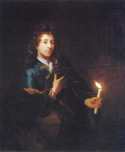 Zelfportret met brandende kaars