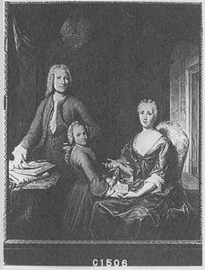 Familieportret van Hendrik van Buren met zijn vrouw en zoon