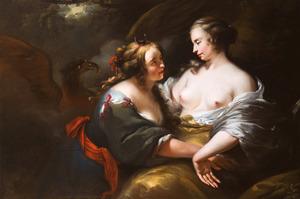 Jupiter, in de gedaante van Diana,verleidt de nimf  Callisto