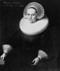 Portret van Marie Dufay (du Fay), echtgenote van Abraham de Malapert