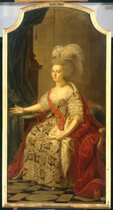 Portret van Frederika Sophia Wilhelmina van Pruisen (1751-1820), echtgenote van Willem V, prins van Oranje-Nassau (1748-1806)