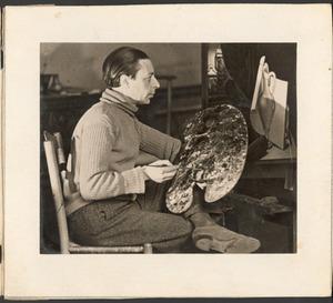 Raoul Hynckes met palet en doek