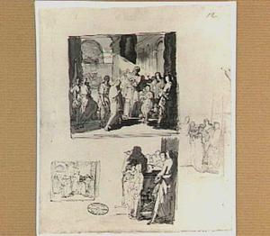 De opdracht in de tempel (Lucas 2:22-40) en drie studies voor dezelfde voorstelling