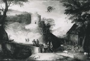 Landschap met Mercurius in de lucht
